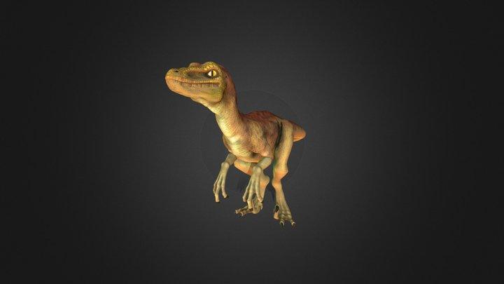 Velociraptor animated 3D Model
