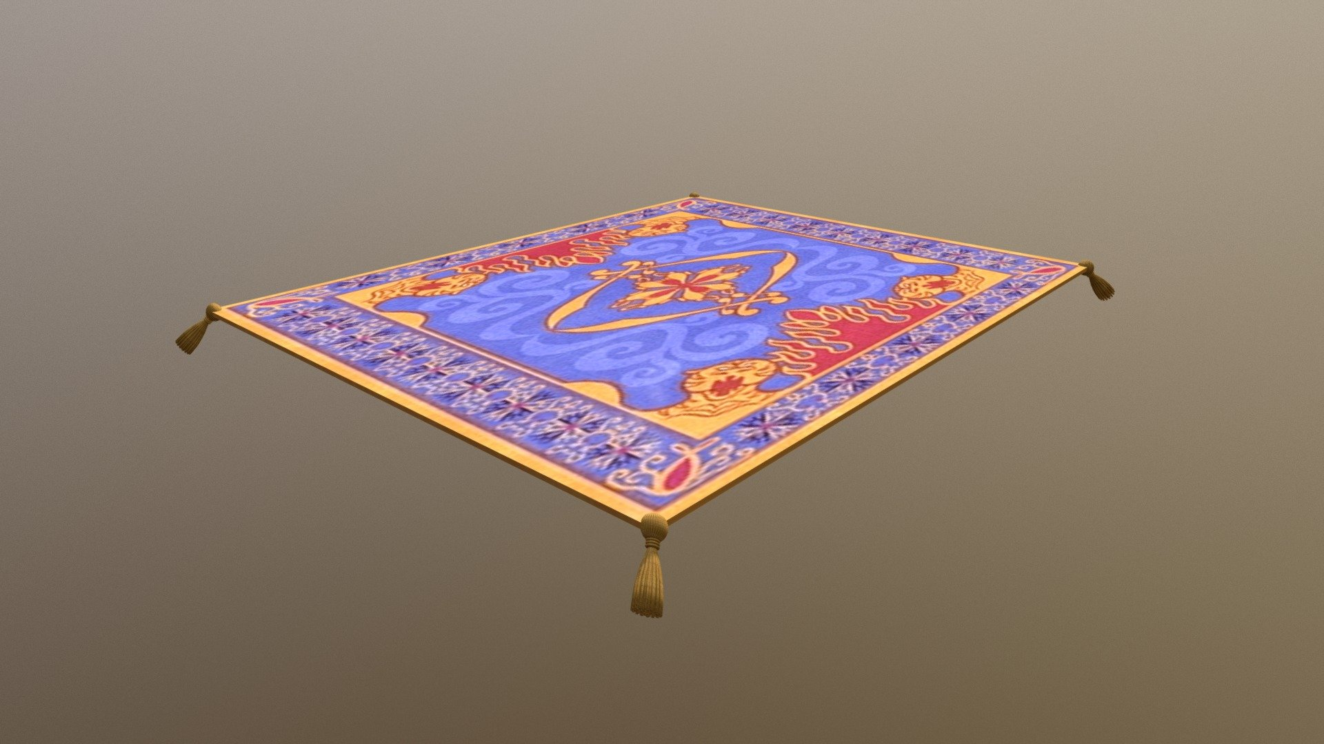 Aladdin S Magic Carpet Download Free 3d Model By Kremit