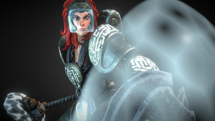 Sandkeeper Cassie (mecha-armor version) 3D Model