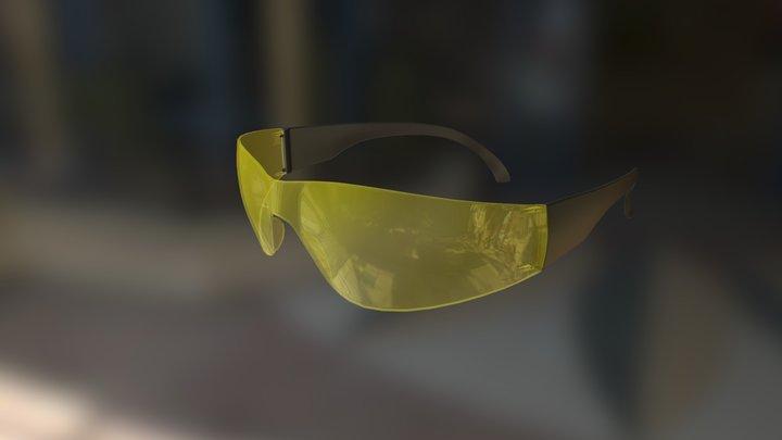 Glasses yellow 3D Model
