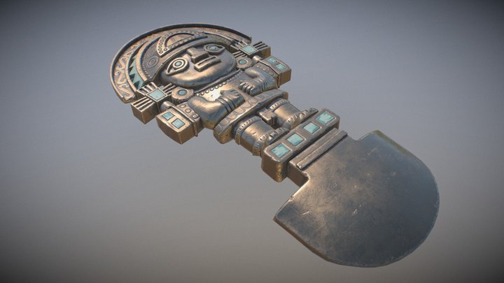 Peruvian Inti 3D Model