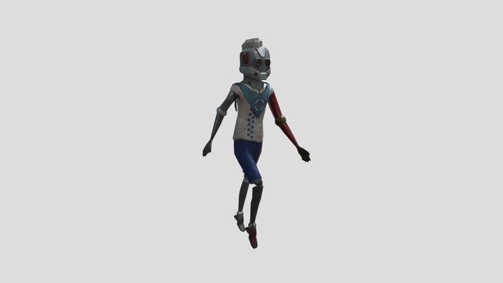 AS2 Fast-Food Delivery Hero 3D Model