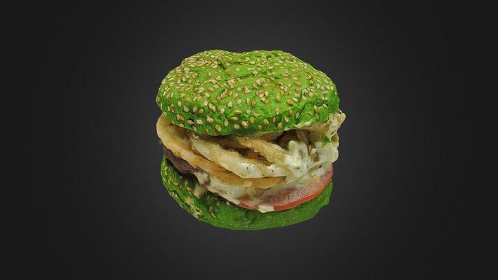 Green Burger 3D Model