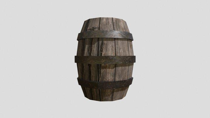 Photobashed Barrel 3D Model
