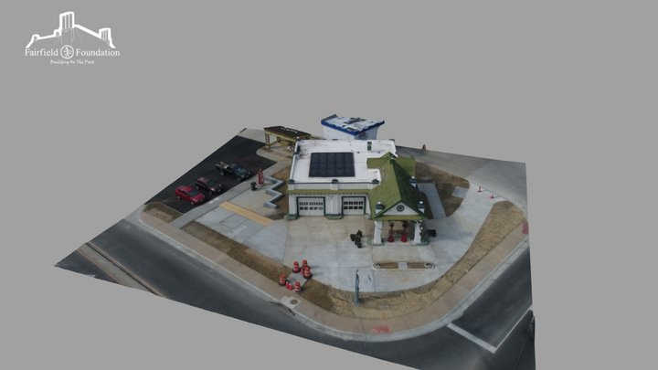 Restored Texaco Service Station 3D Model