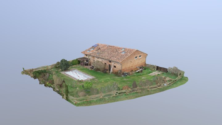Longère vers Toulouse - Drone 3D mapping 3D Model