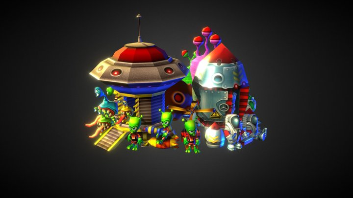 Low-Poly Space Pack 3D Model