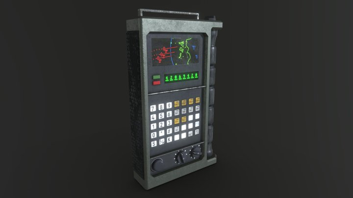 Handheld terminal-thingy 3D Model