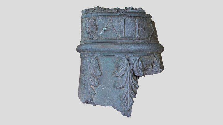 17th century Spanish bronze cannon fragment 3D Model