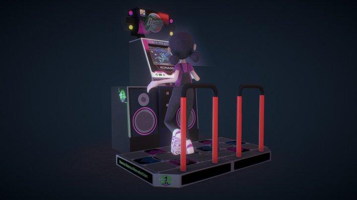 Dance Dance Revolution 3D Model