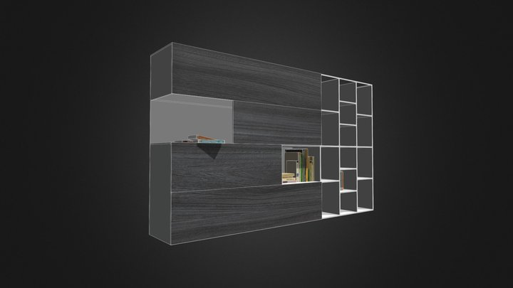 LIBRERIA HOME OFFICE BY ALTEK 3D Model