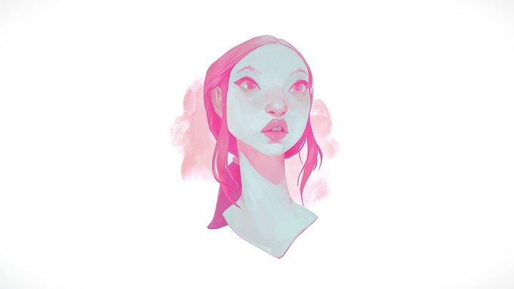 Pink Hue - Lois van Baarle Concept 3D Model