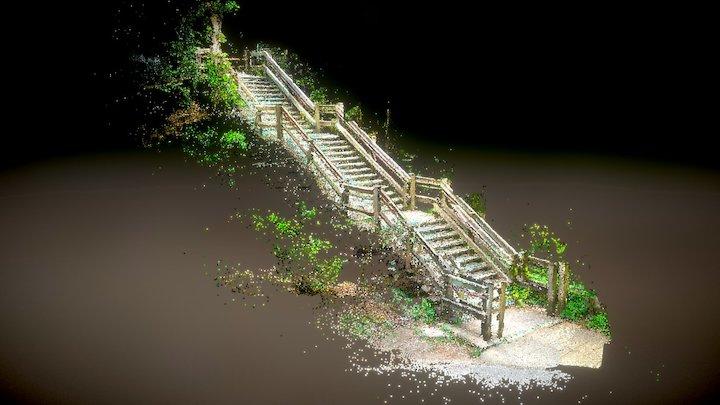 Inokashira Park Stairs 3D Model
