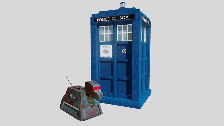 TARDIS and K9 3D Model