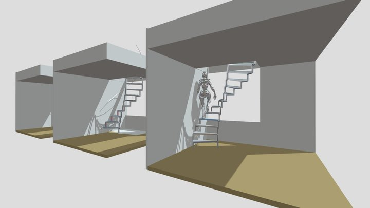 STAIR 2 3D Model