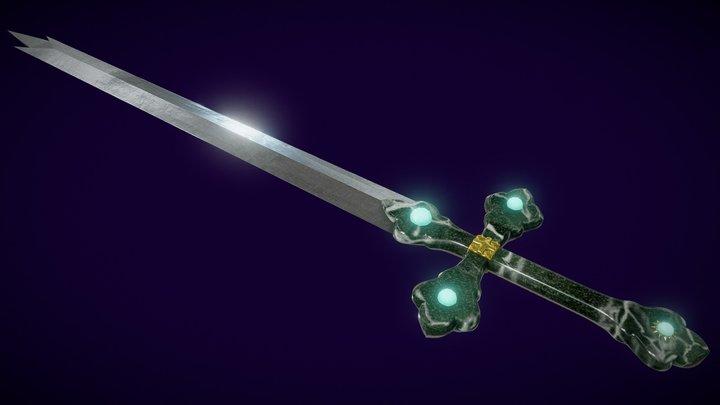 Gothic Royal Sword 3D Model