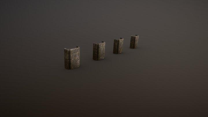 Bearing columns / Column ruins 3D Model