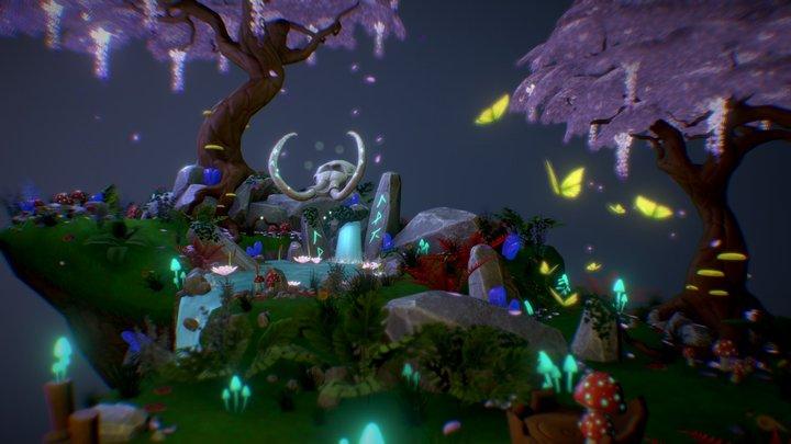 Isle of Plenty Diorama 3D Model