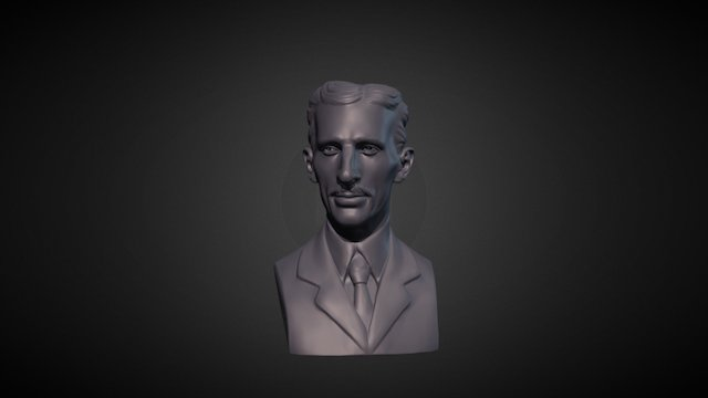 Bust of Nikola Tesla 3D Model
