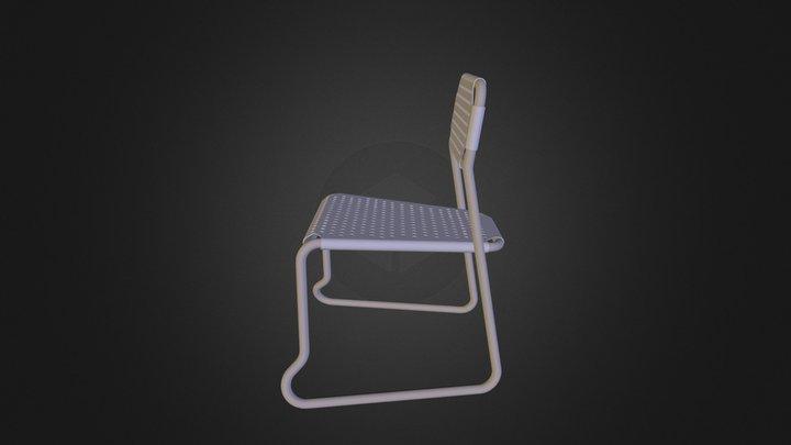 Chaise pour école primaire 3D Model