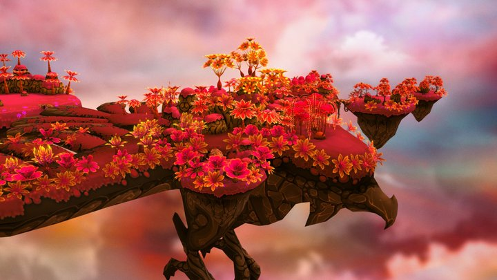 Lava Forest - World of Flame Florals 3D Model