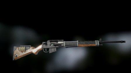 Bolt action rifle 3D Model