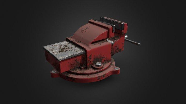 Rusty workshop vise grip 3D Model