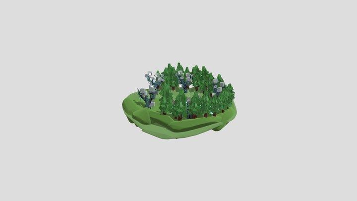 Cybernetic Meadow 3D Model