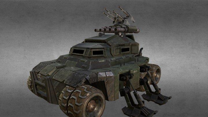 StormSiege Assault Command Vehicle 3D Model