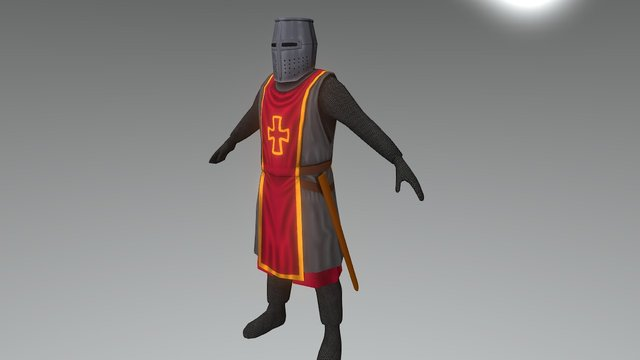 Heavy Hand styled crusader WIP 3D Model