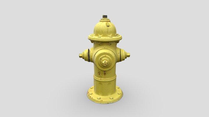 Fire Hydrant 2 -- Photogrammetry Asset 3D Model