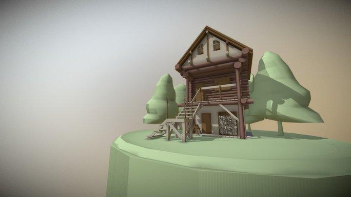 Practica1: Cabaña 3D Model