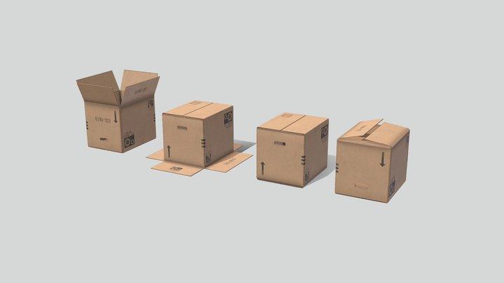 Industrial Boxes 01 3D Model