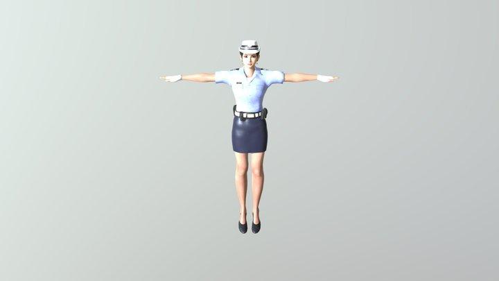 Police Woman 3D Model