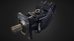 Bent-axis piston pump 3D Model