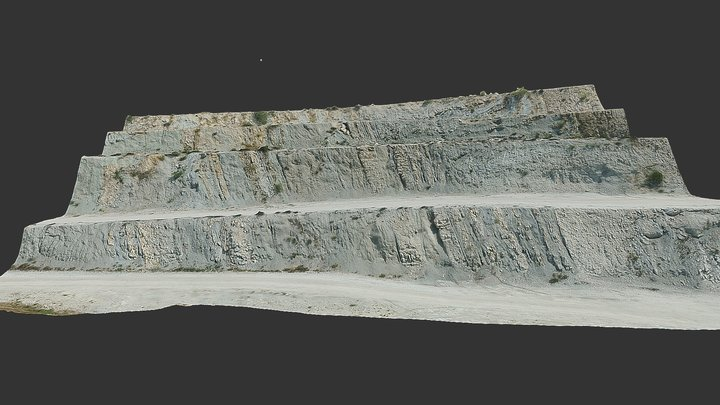 Val Luretta Flysch Quarry - Oblique UAV imagery 3D Model