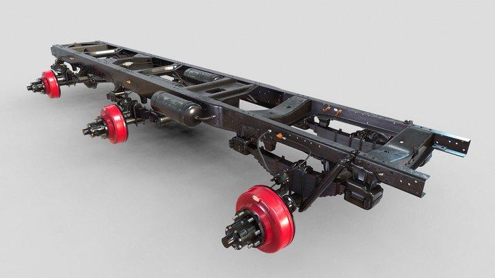 3D model-truck Frame 3D Model