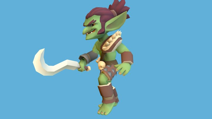 Vertex Color Goblin 3D Model