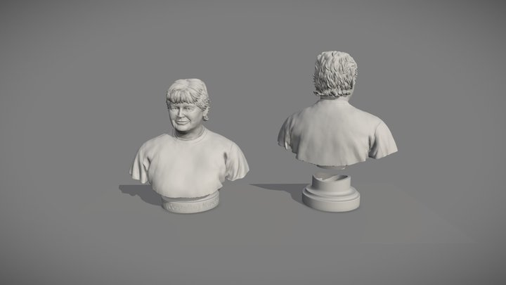Final Set of Three Busts - Bust Number 3 3D Model