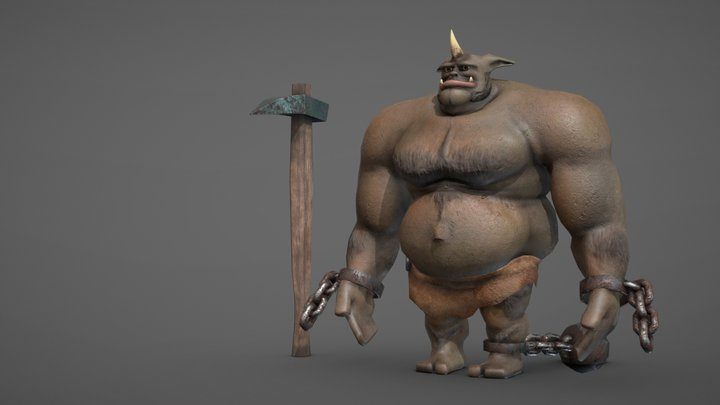 Dolf the Giant (Cloth) 3D Model