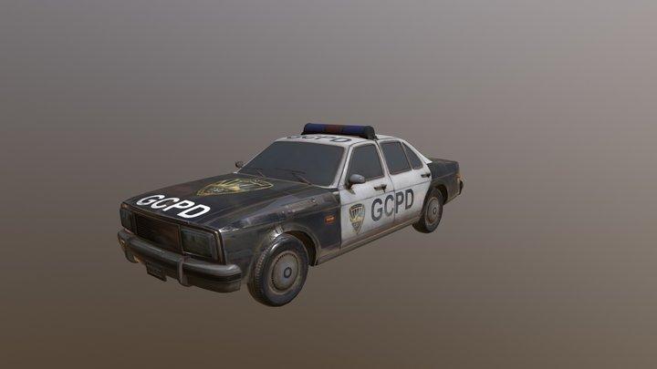 Police Car 80s | GCPD Vehicle 3D Model
