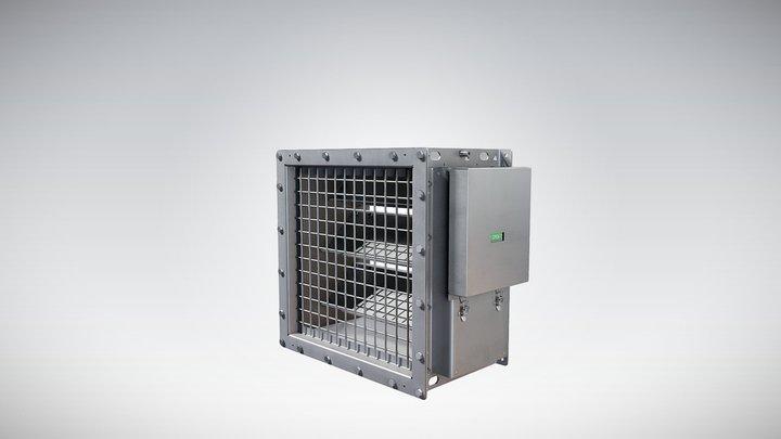 Halton - Blast protection damper 3D Model
