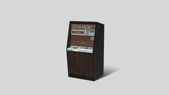 Arcade Coin Machine 01 3D Model