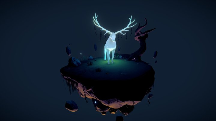 Ghost Stag 3D Model