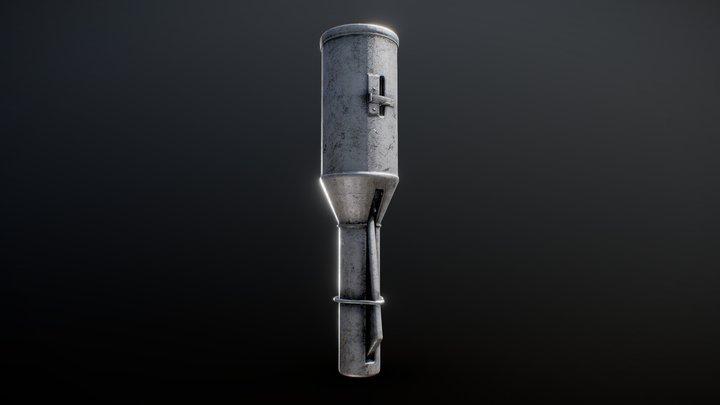 Russian Empire Model 1914 Grenade 3D Model