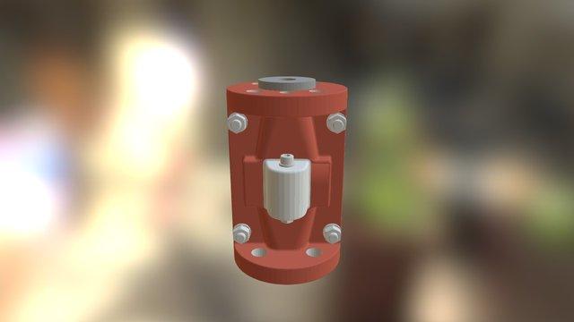 "6"" Pinch Valve w/ Handwheel 3D Model"