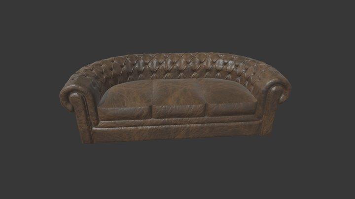 Sofa Chesterfield 3D Model