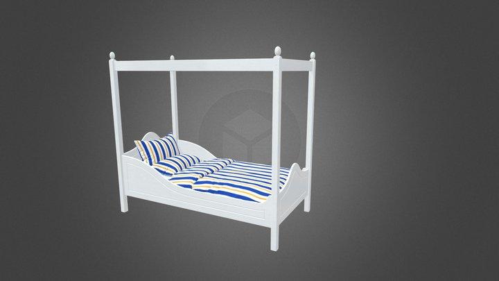 Версаль - кровать с эксклюзивным балдахином 3D Model