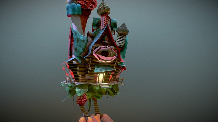 Baba Yaga's All Seing House 3D Model