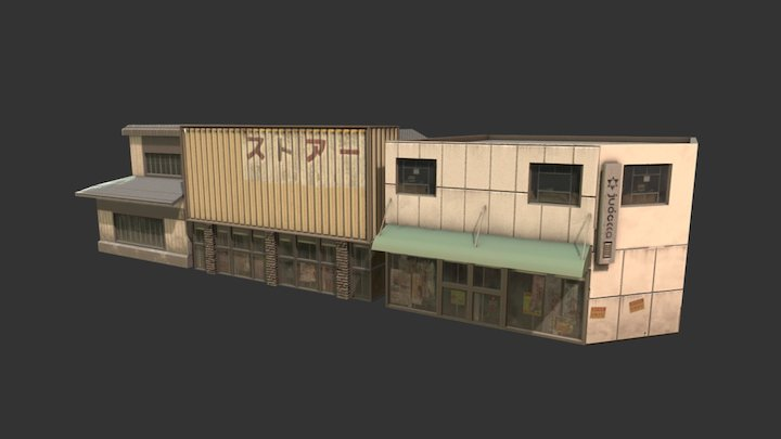 Japanese Buildings 1 3D Model